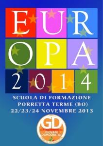 Scuola di formazione sull'Europa a Porretta Terme dal 22 al 24 novembre 2013