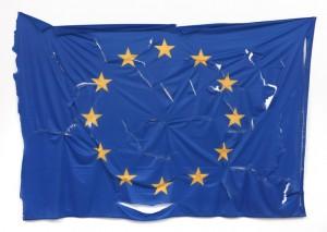 Jota Castro - bandiera Europa lacerata