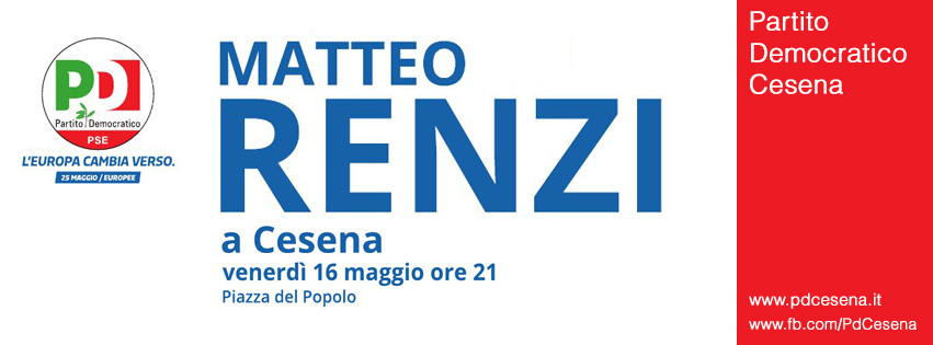 Matteo Renzi Cesena
